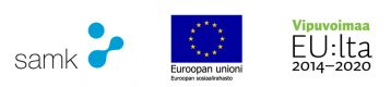 SAMKin, Euroopan Sosiaalirahaston ja Vipuvoimaa-logot.